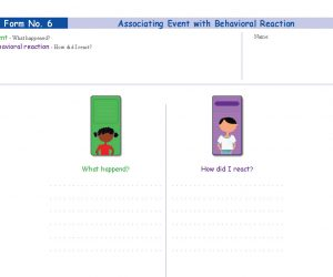 Form No. 6 - Associating Event with Behavioral Reaction