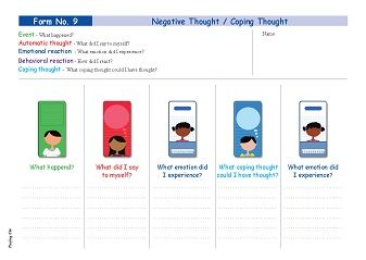 Form No 9 - Negative Thought  Coping Thought