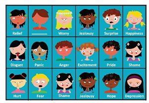 Emotion bingo game